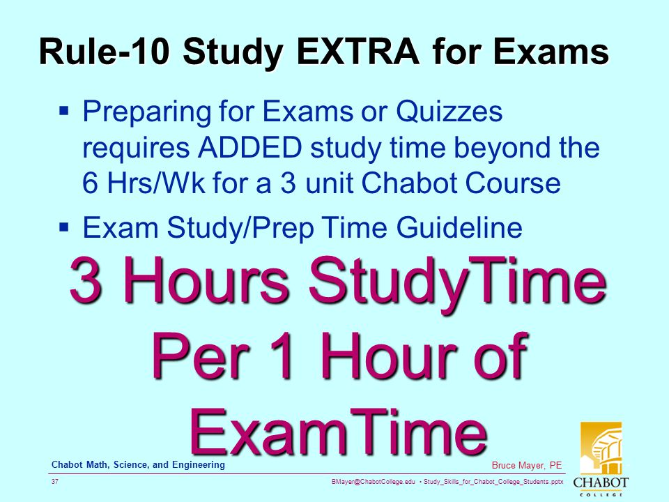 Rule-10 Study EXTRA for Exams