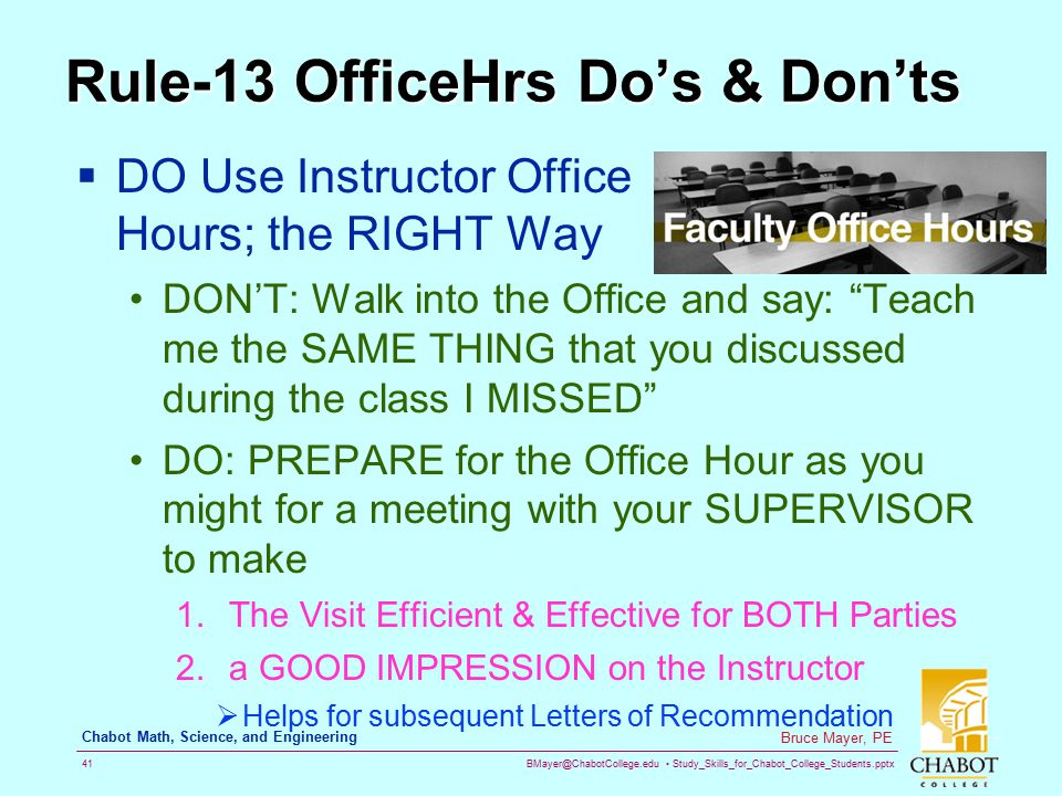 Rule-13 OfficeHrs Do's & Don'ts