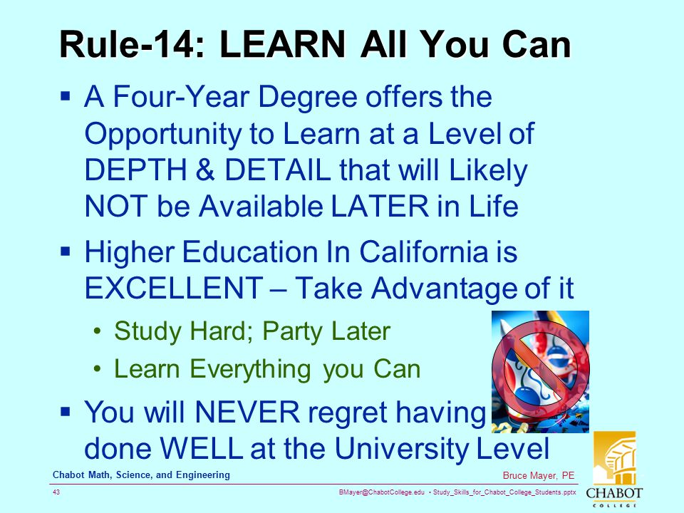 Rule-14: LEARN All You Can
