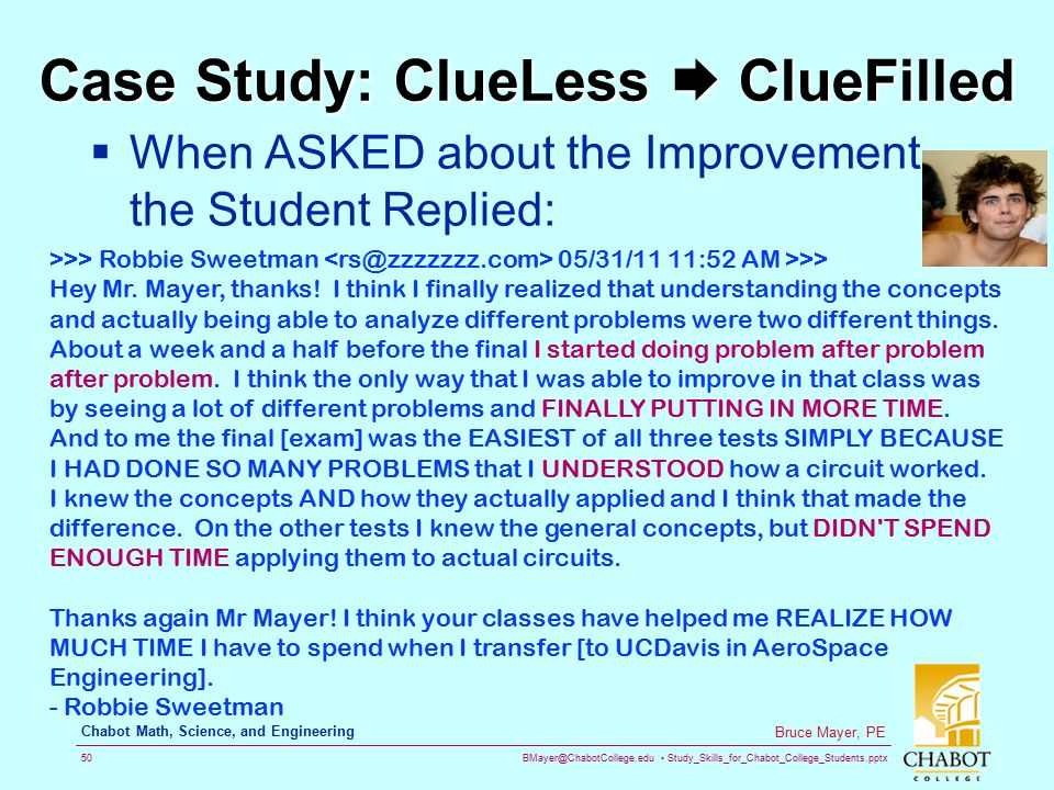 Case Study: ClueLess  ClueFilled