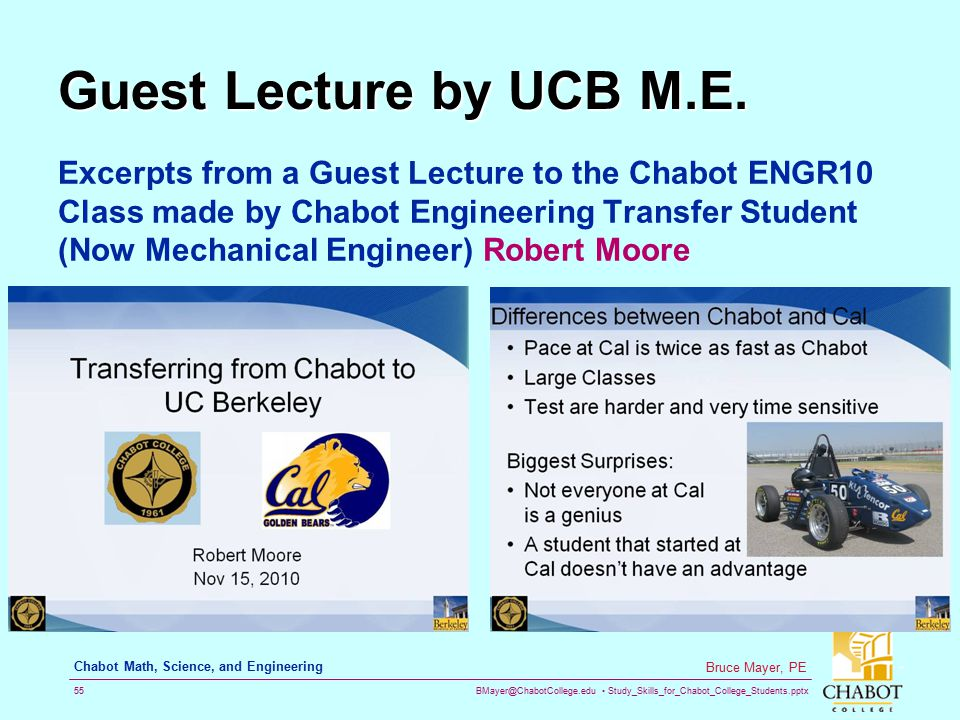 Guest Lecture by UCB M.E.