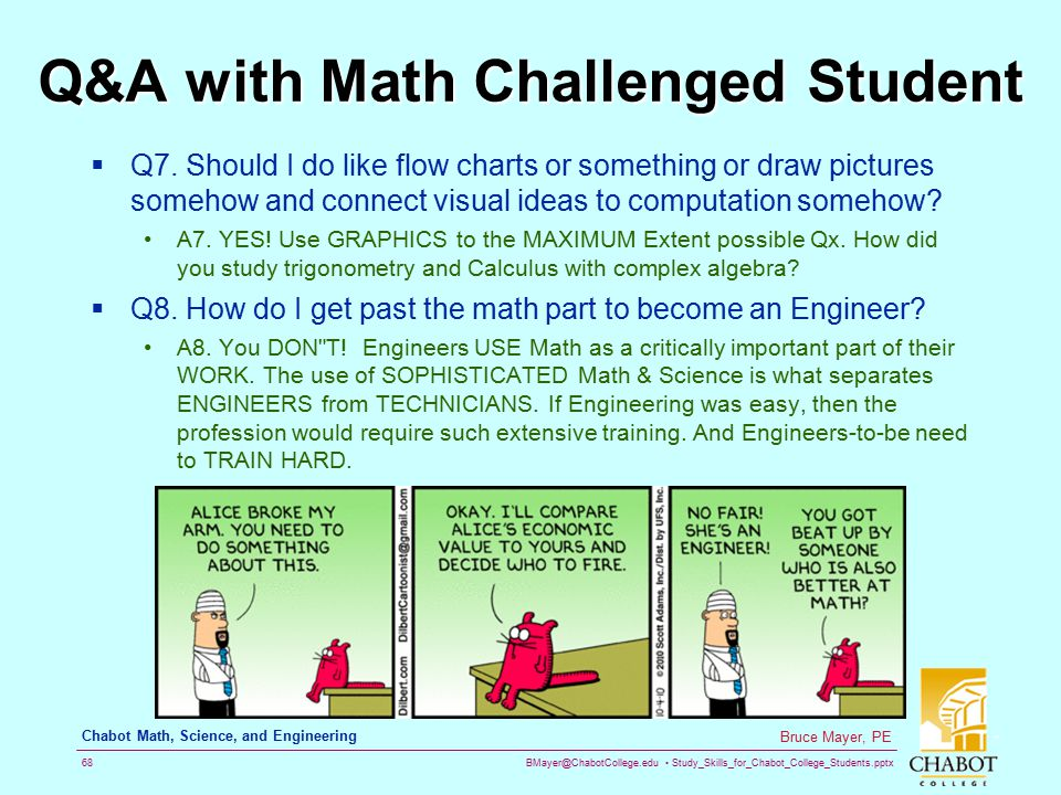 Q&A with Math Challenged Student