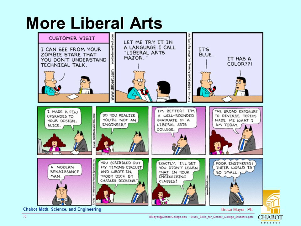 More Liberal Arts