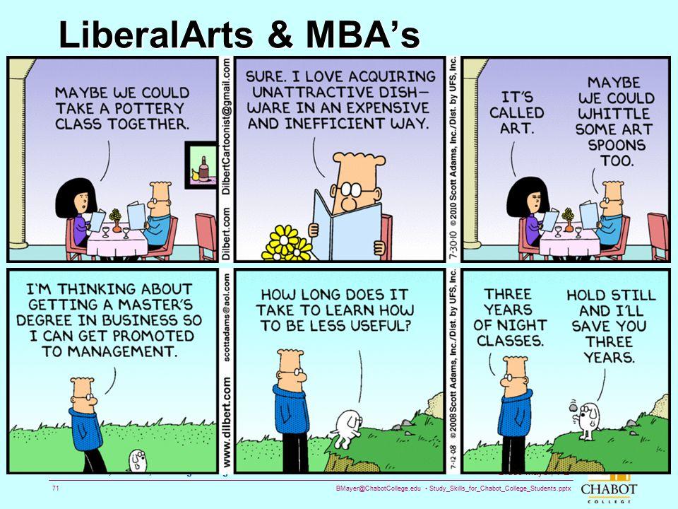 LiberalArts & MBA's