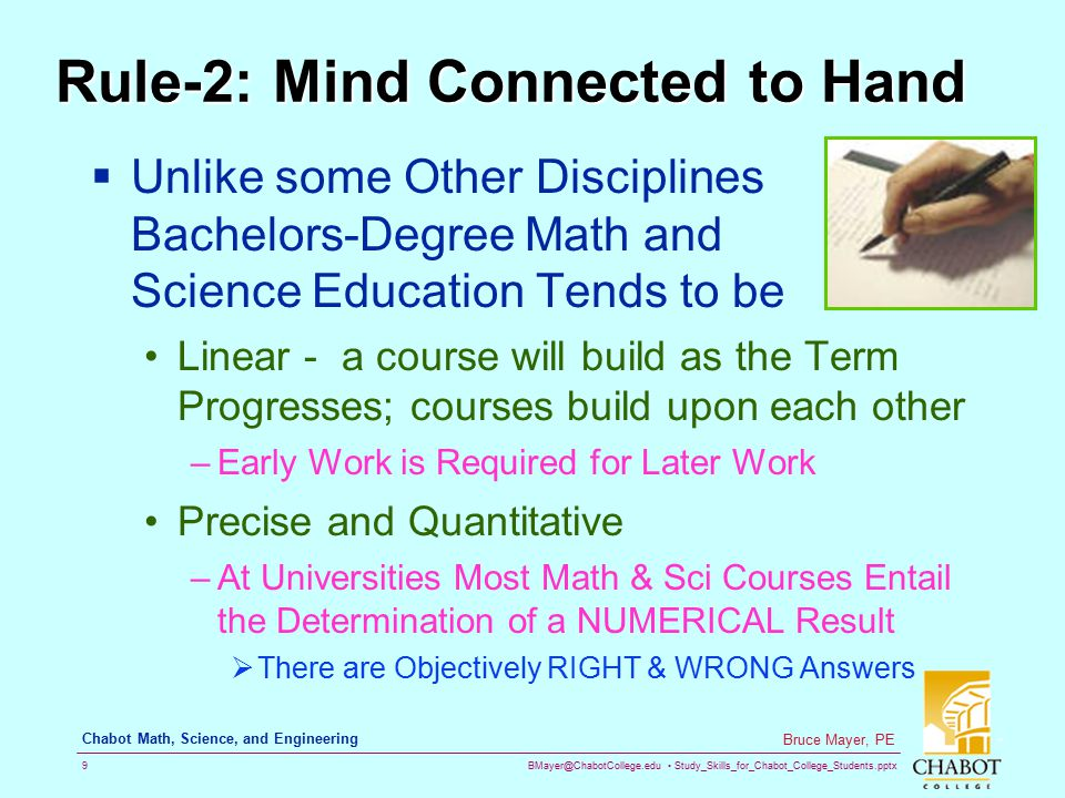 Rule-2: Mind Connected to Hand