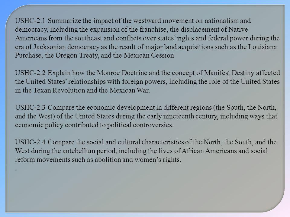 antebellum time period and democratic ideals