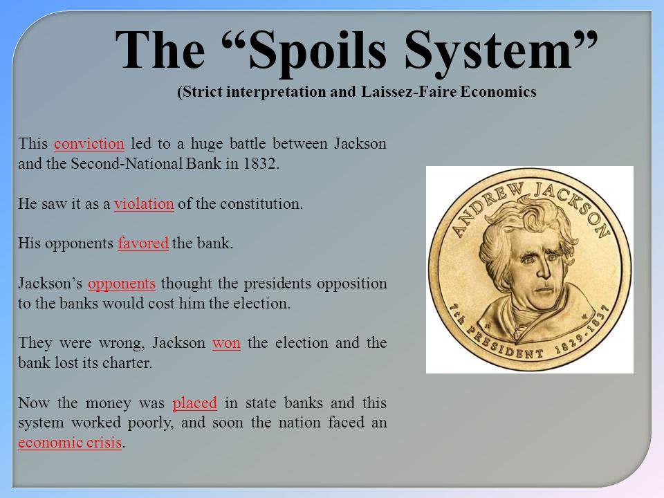(Strict interpretation and Laissez-Faire Economics