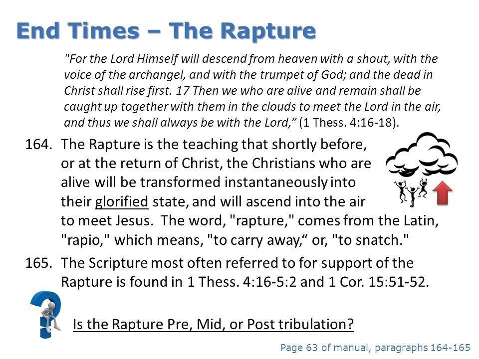 Is the Rapture Pre, Mid, or Post tribulation