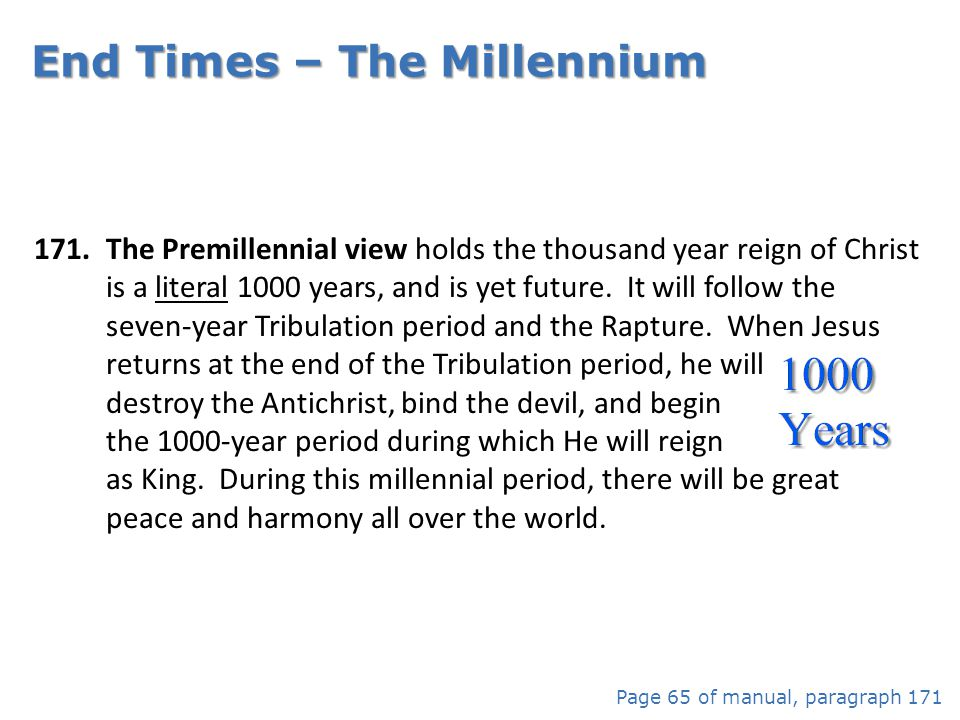End Times – The Millennium