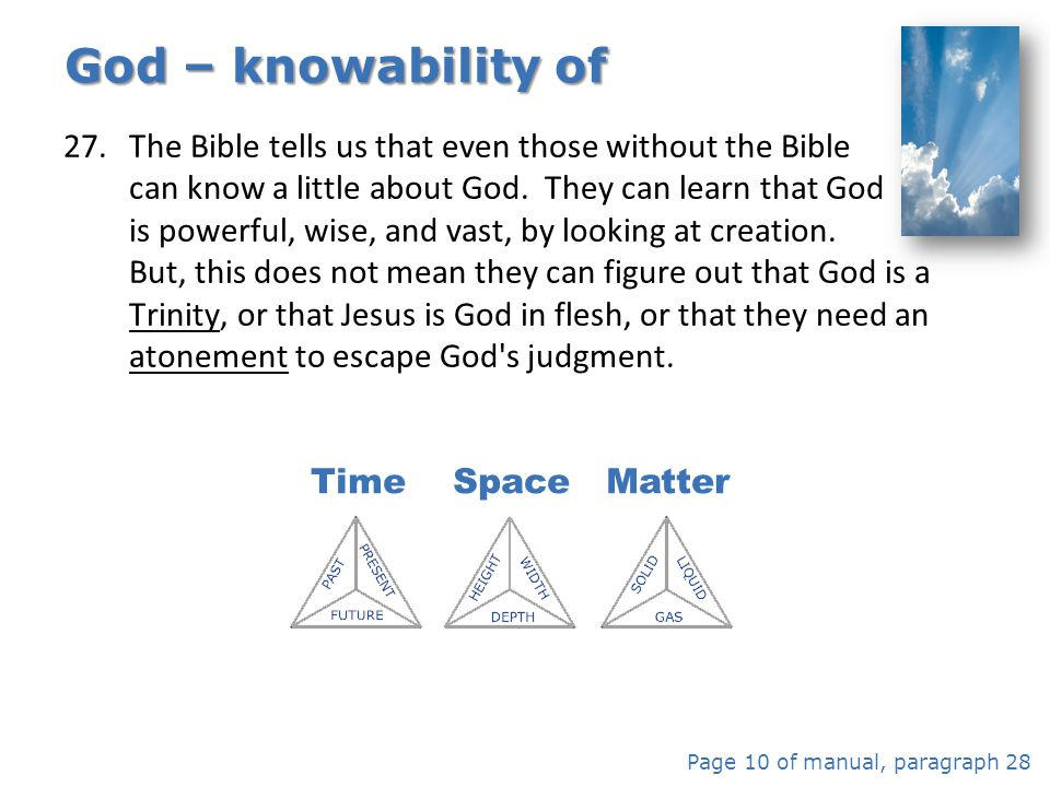 God – knowability of