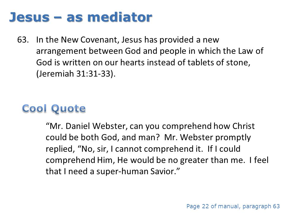 Jesus – as mediator