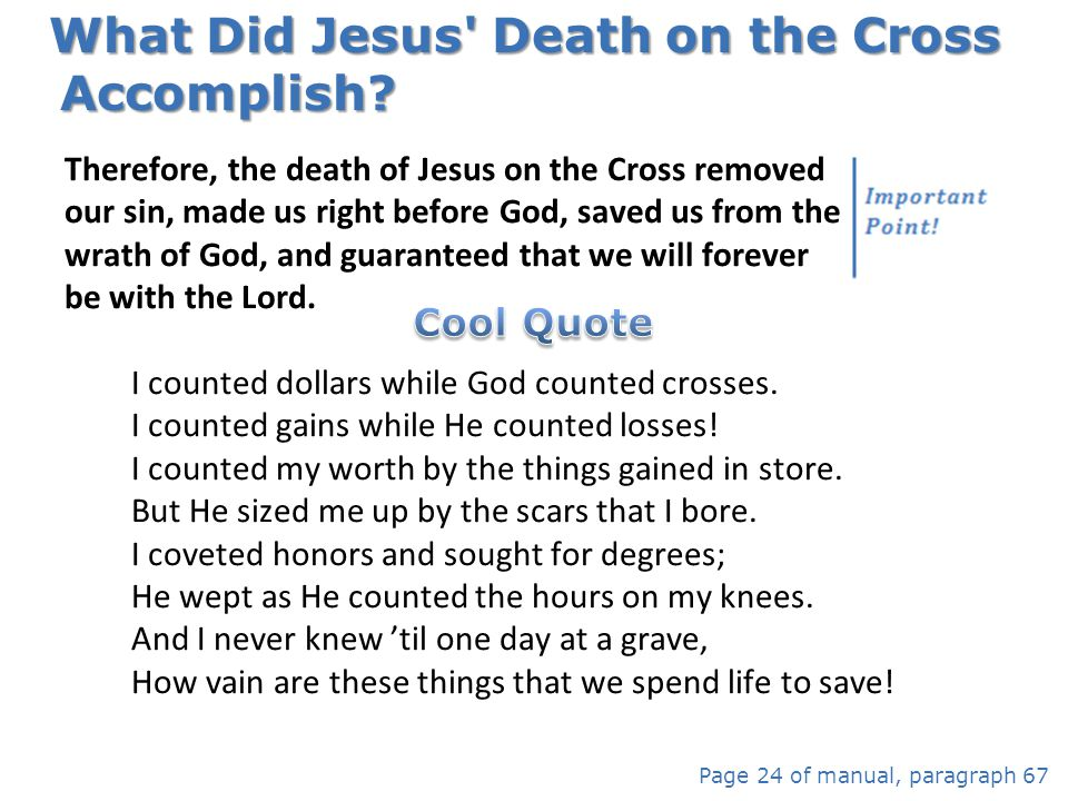 What Did Jesus Death on the Cross Accomplish