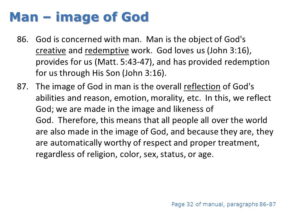 Man – image of God