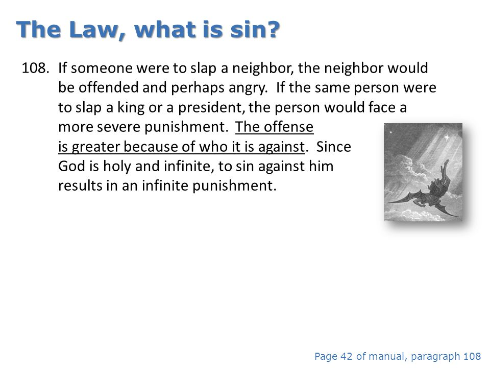 The Law, what is sin