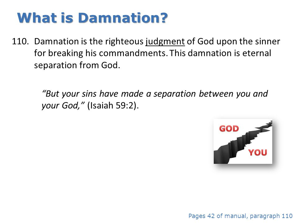 What is Damnation