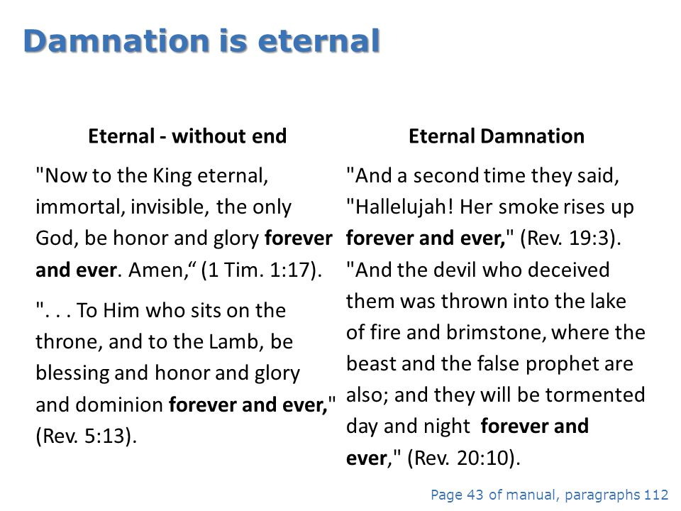 Eternal - without end Eternal Damnation