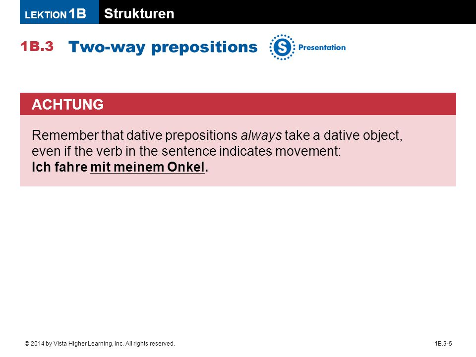Two-way prepositions ACHTUNG