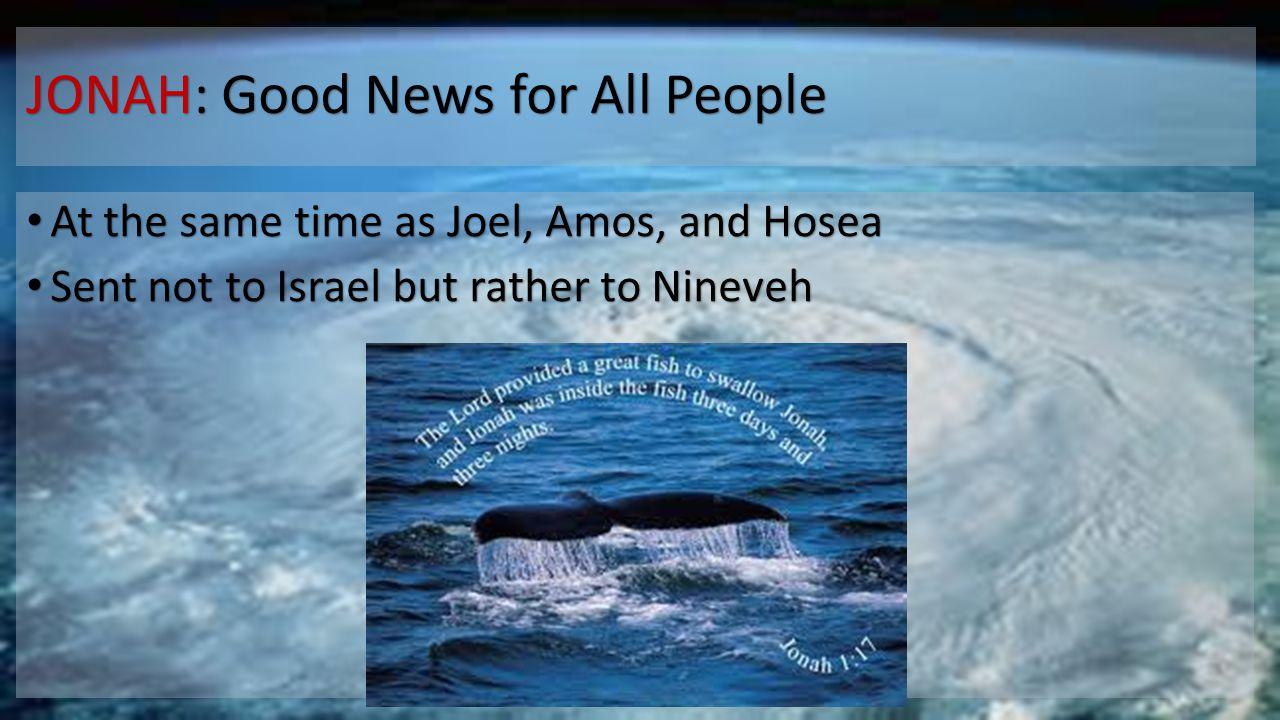 JONAH: Good News for All People