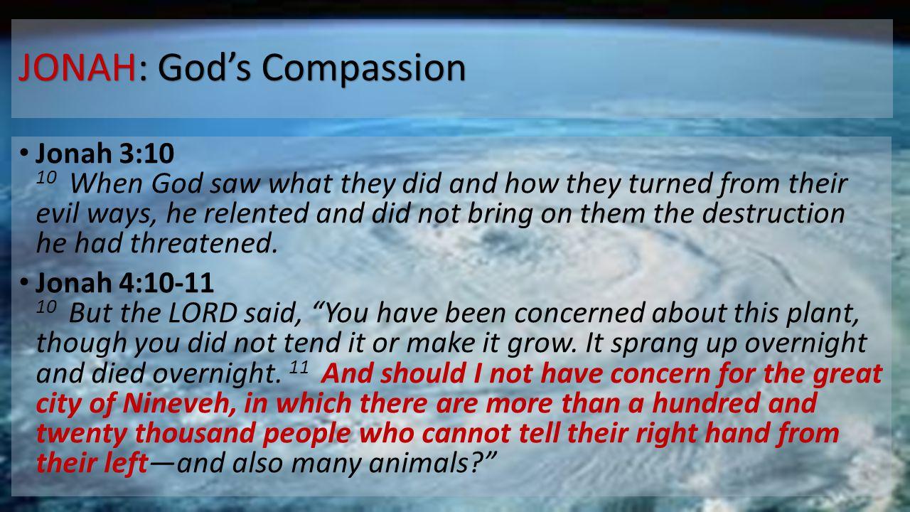 JONAH: God's Compassion