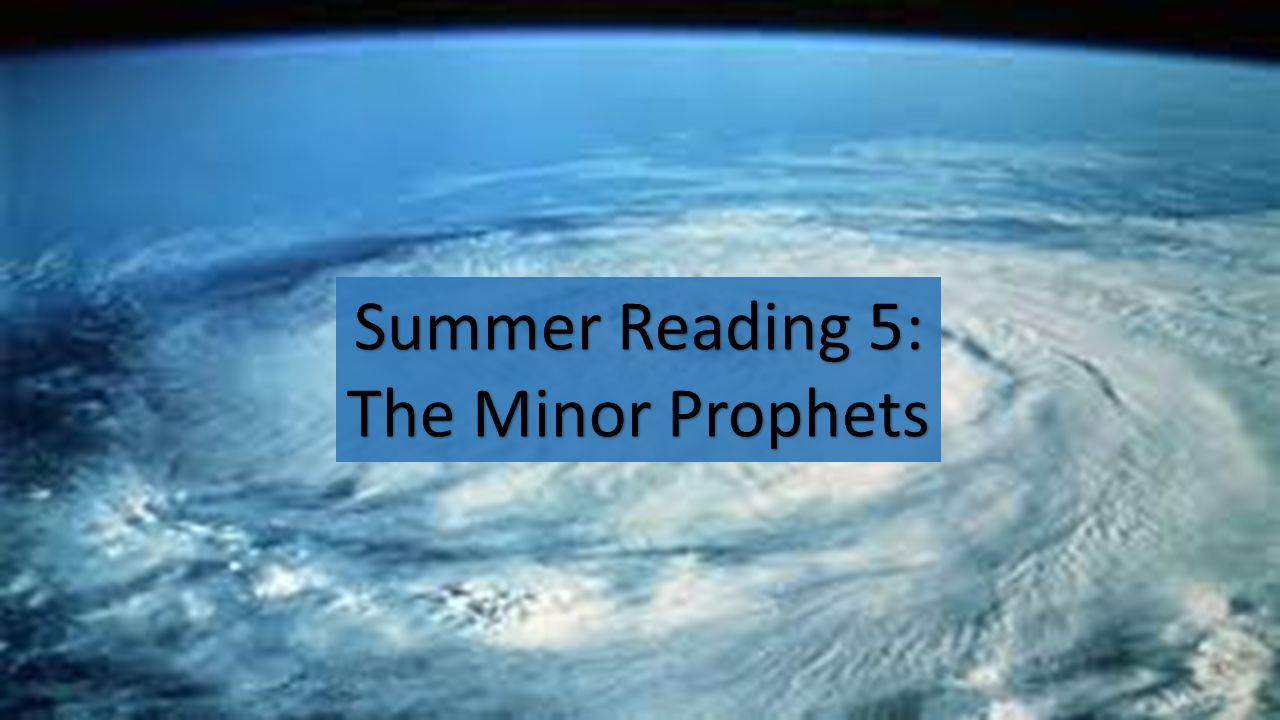 Summer Reading 5: The Minor Prophets