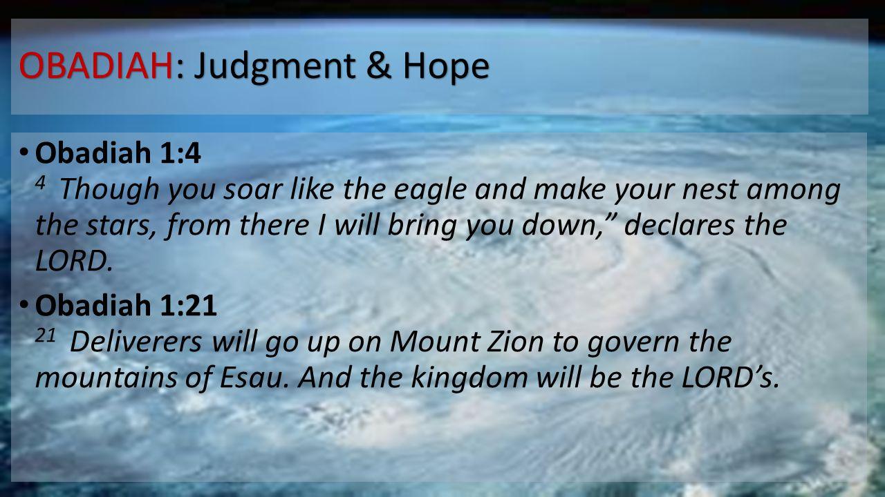 OBADIAH: Judgment & Hope