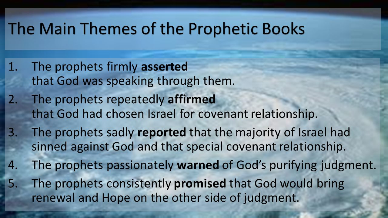 The Main Themes of the Prophetic Books