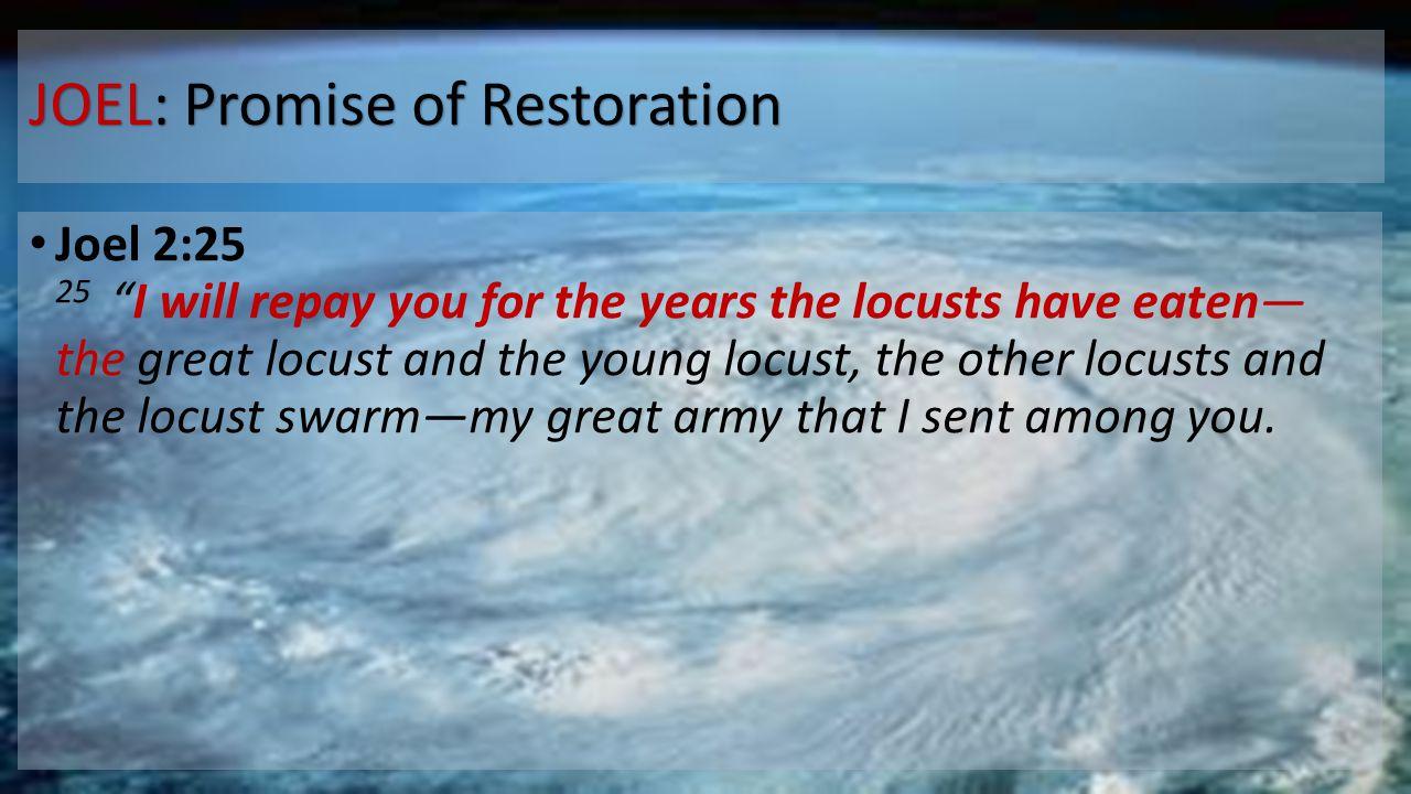 JOEL: Promise of Restoration