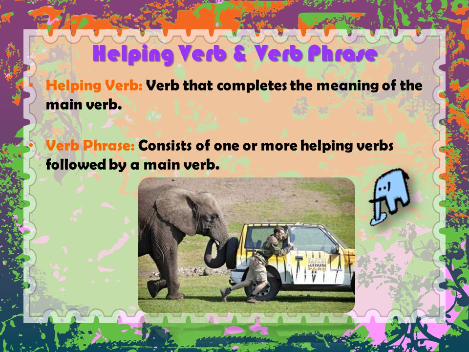 Helping Verb & Verb Phrase