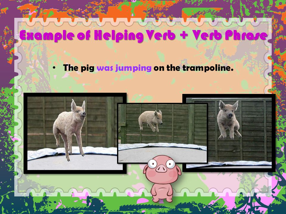 Example of Helping Verb + Verb Phrase