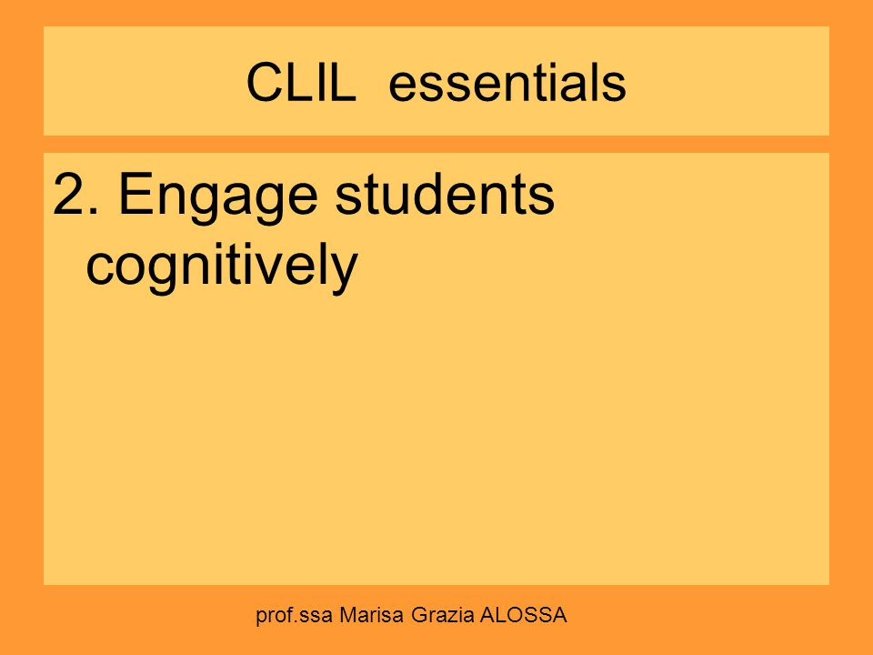2. Engage students cognitively