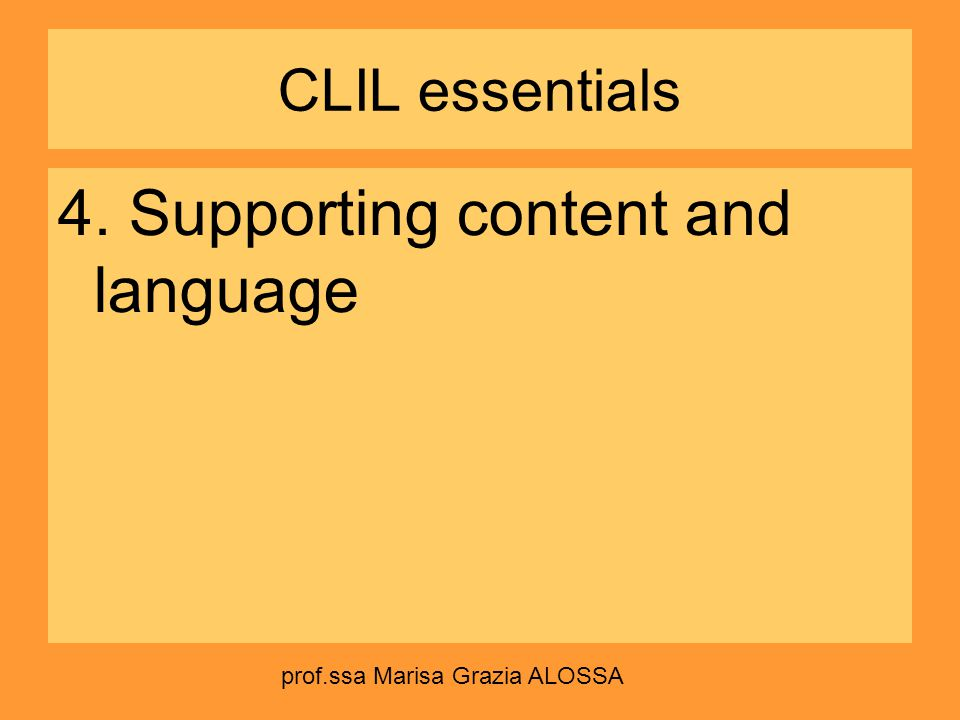 4. Supporting content and language