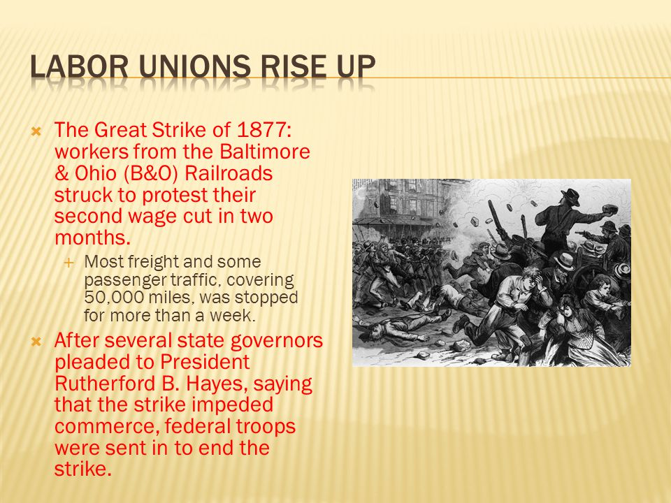 Labor unions rise up