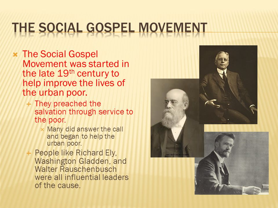 The Social Gospel Movement