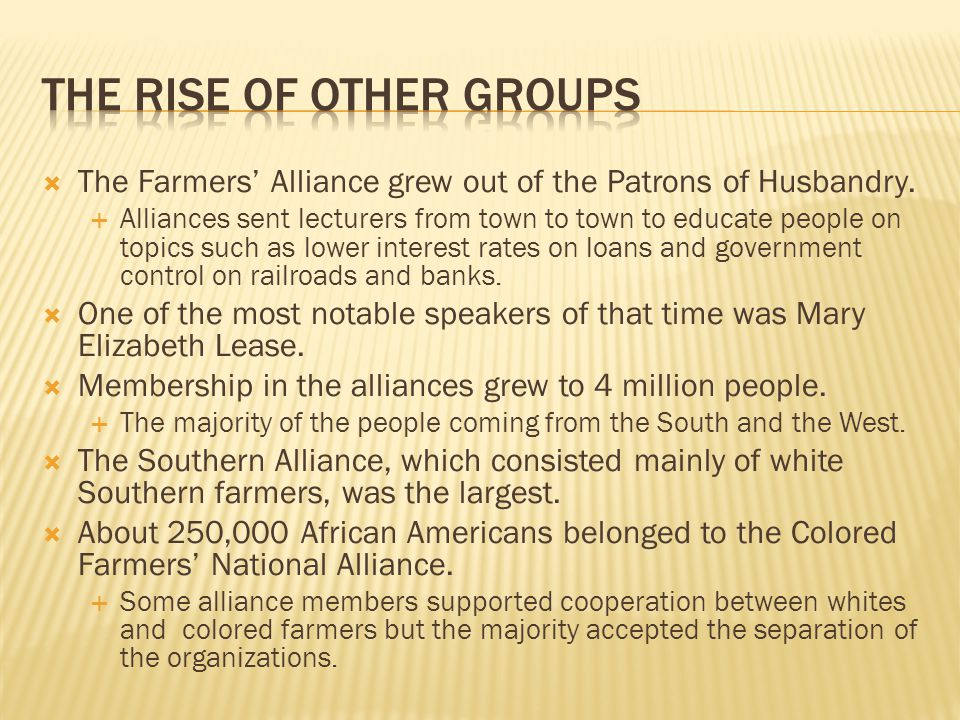 The rise of other groups