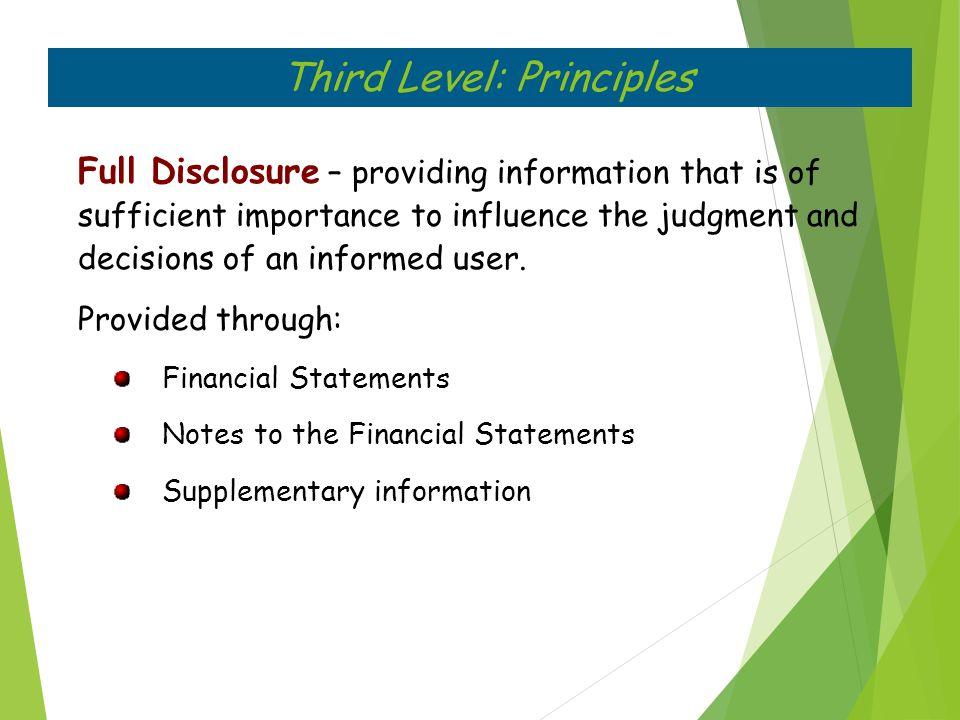 Third Level: Principles