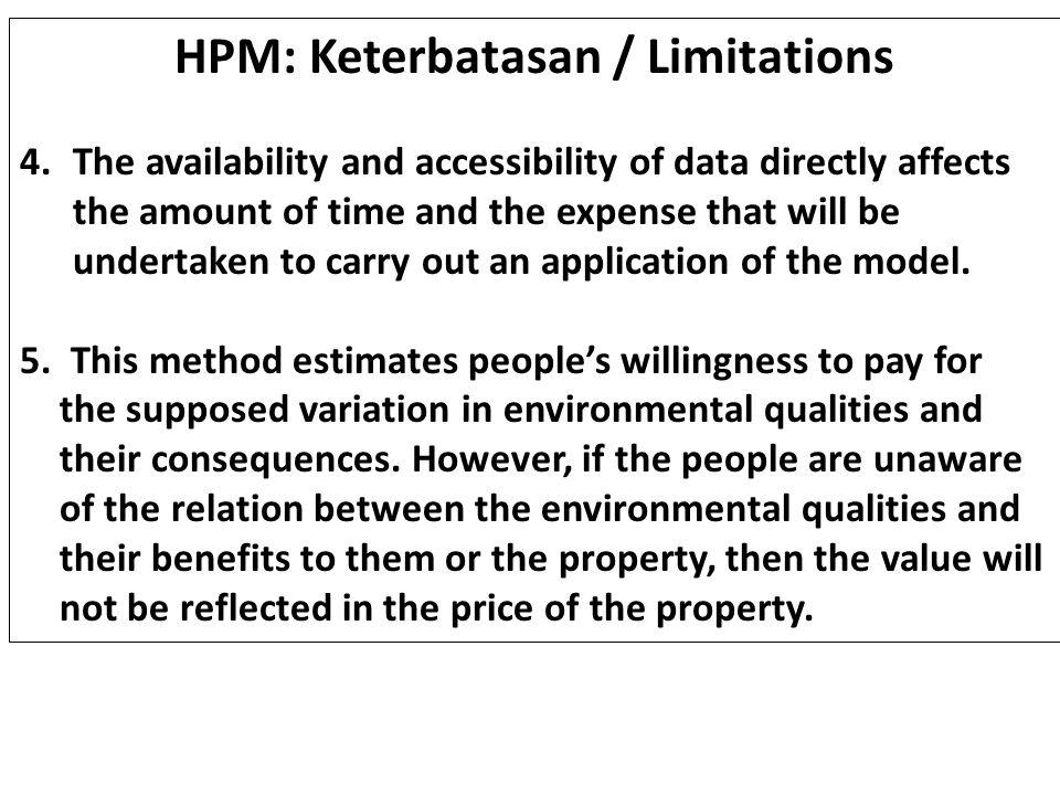HPM: Keterbatasan / Limitations