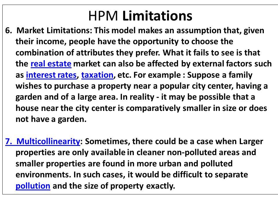 HPM Limitations