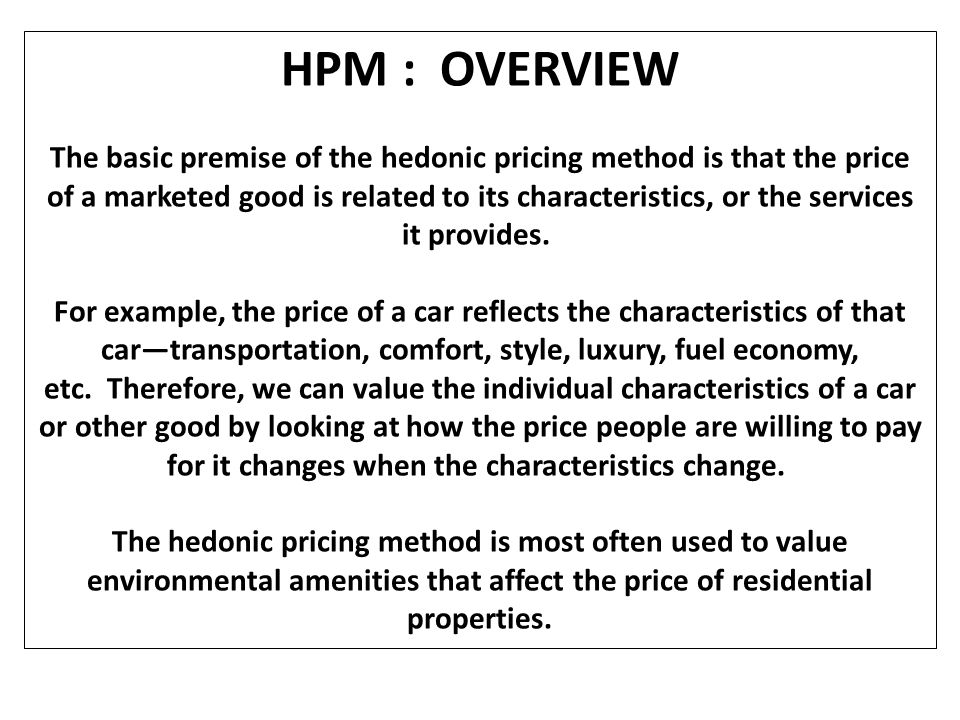 HPM : OVERVIEW