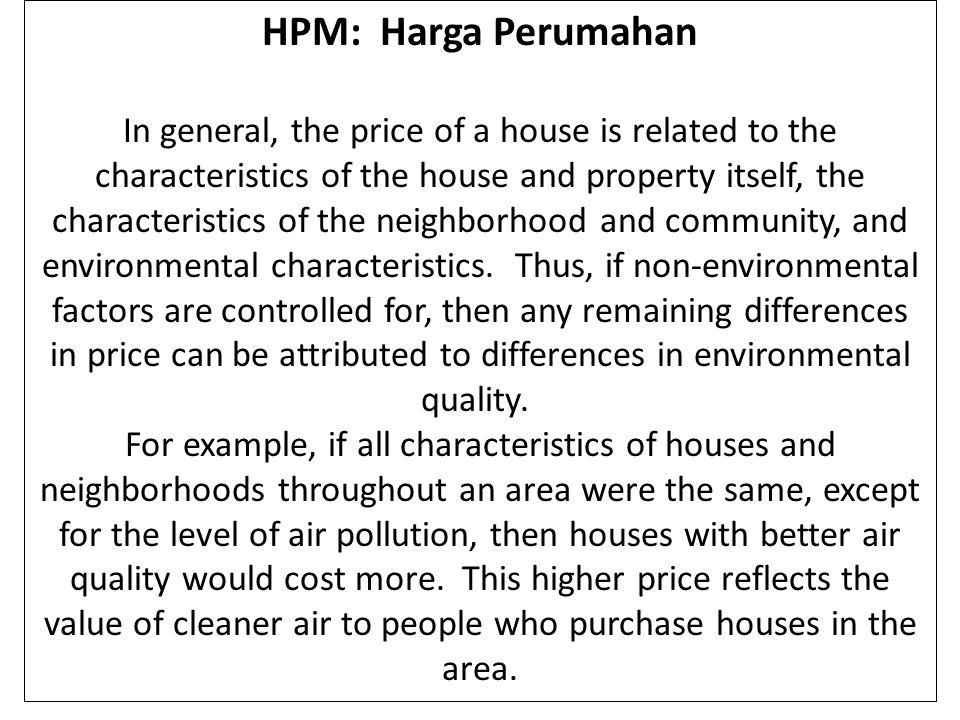HPM: Harga Perumahan