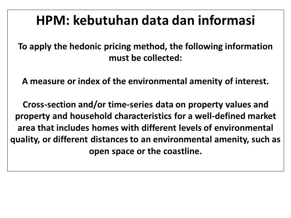 HPM: kebutuhan data dan informasi