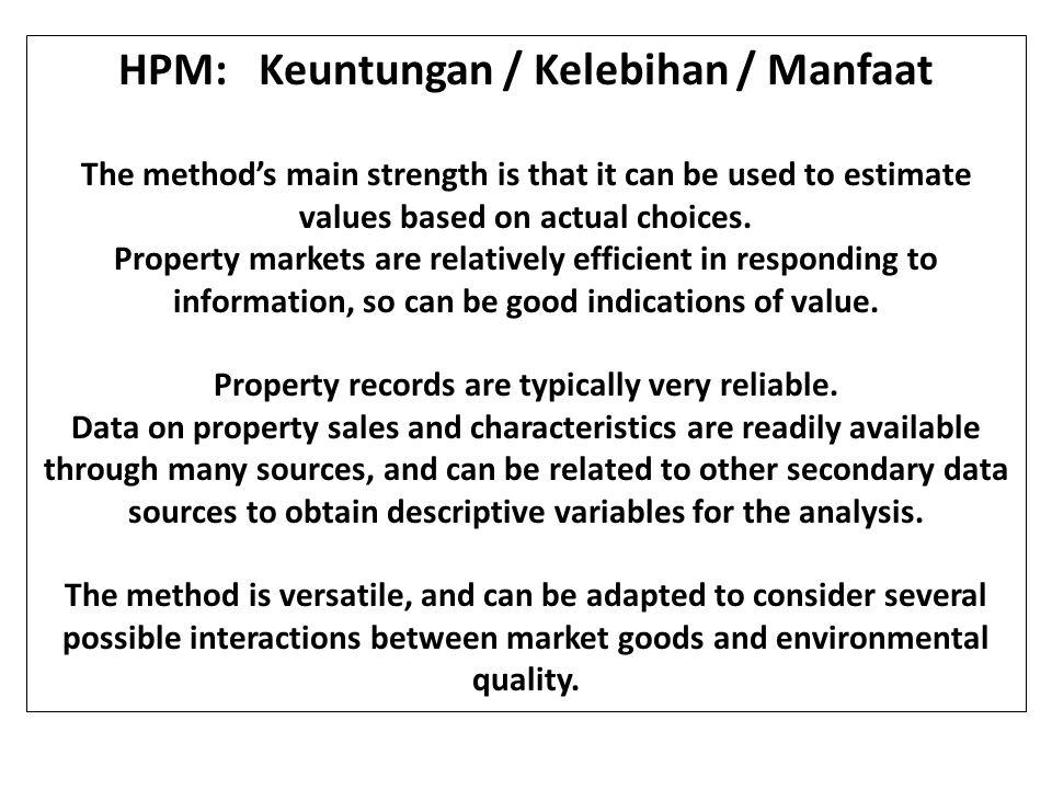HPM: Keuntungan / Kelebihan / Manfaat