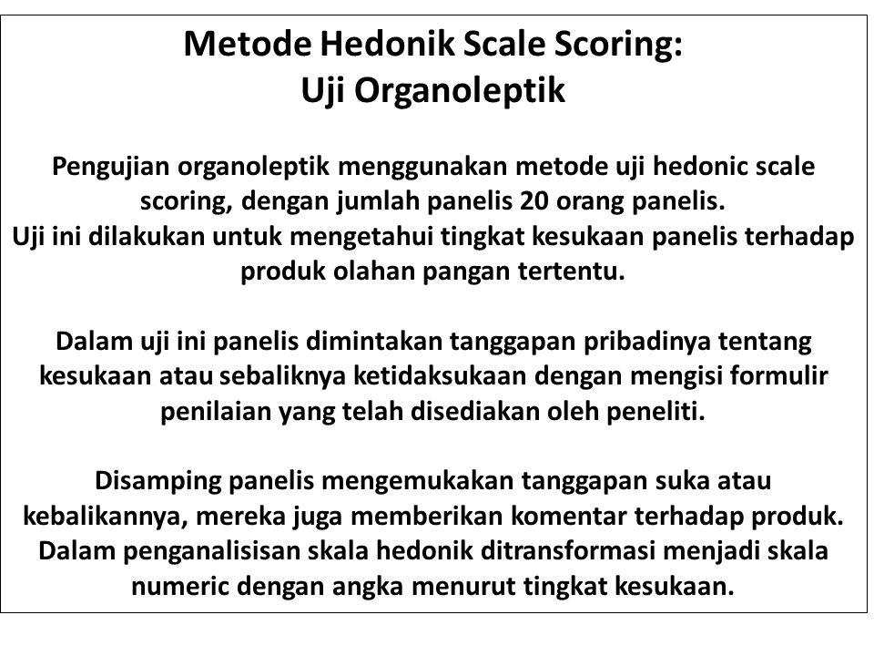 Metode Hedonik Scale Scoring: Uji Organoleptik