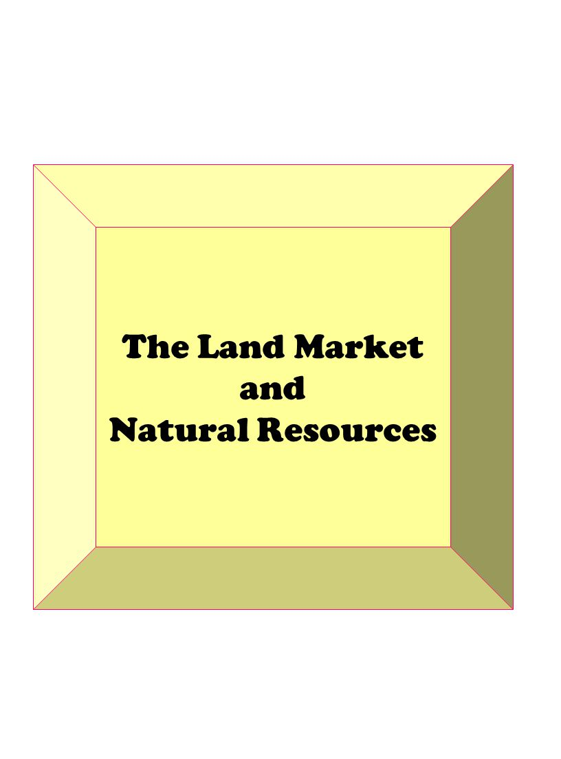The Land Market and Natural Resources