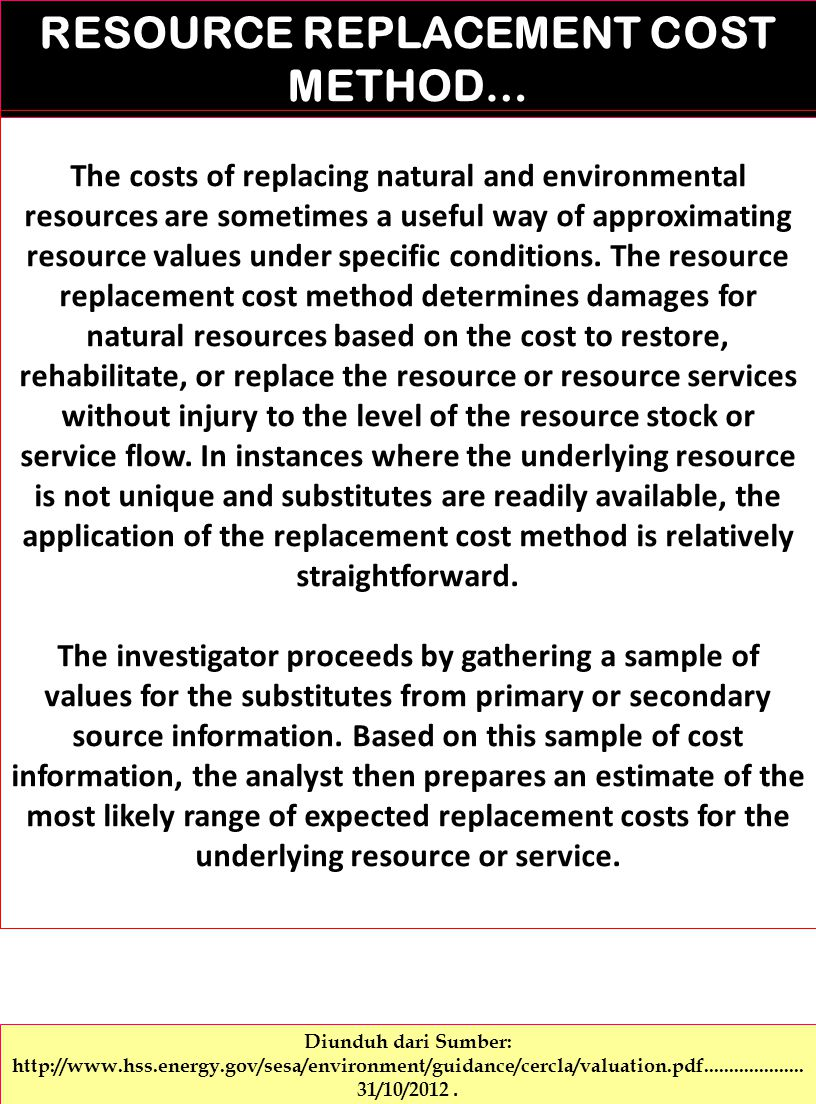 RESOURCE REPLACEMENT COST METHOD…