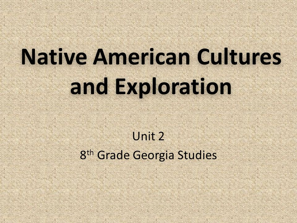 Native American Cultures and Exploration