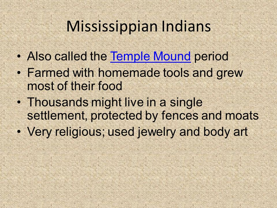 Mississippian Indians