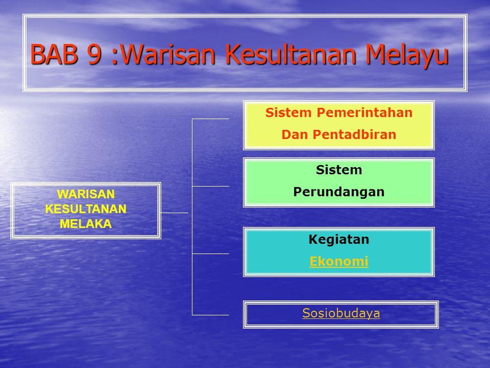 BAB 9 :Warisan Kesultanan Melayu