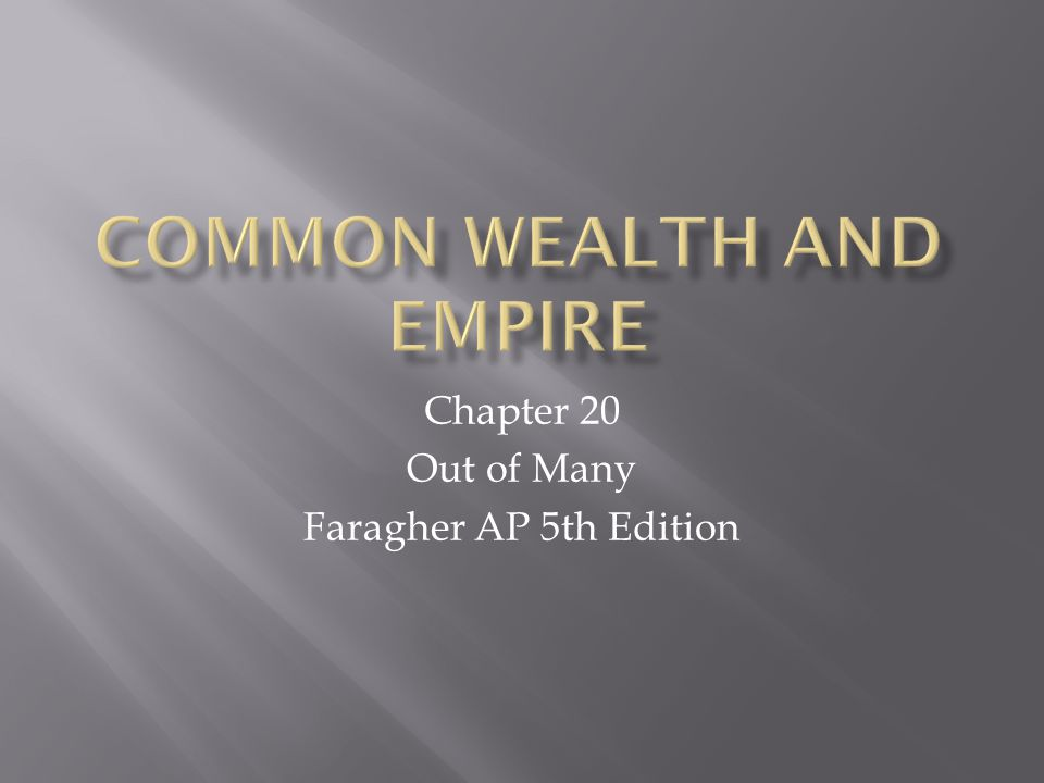 Common Wealth and Empire