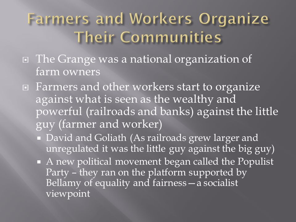 Farmers and Workers Organize Their Communities