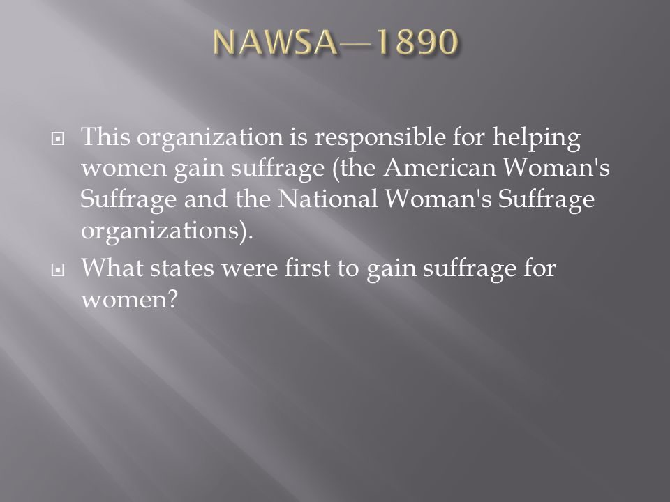 NAWSA—1890